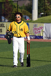 18 May 2012:  Alvaro Ramirez during a Frontier League Baseball game between the Windy City Thunderbolts and the Normal CornBelters at Corn Crib Stadium on the campus of Heartland Community College in Normal Illinois