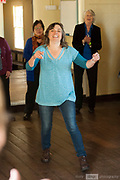 A series of singing workshops were held as part of the 2018 Guildford Songfest. Sonia Anderson ran this group in the Guildford Mechanics Hall.