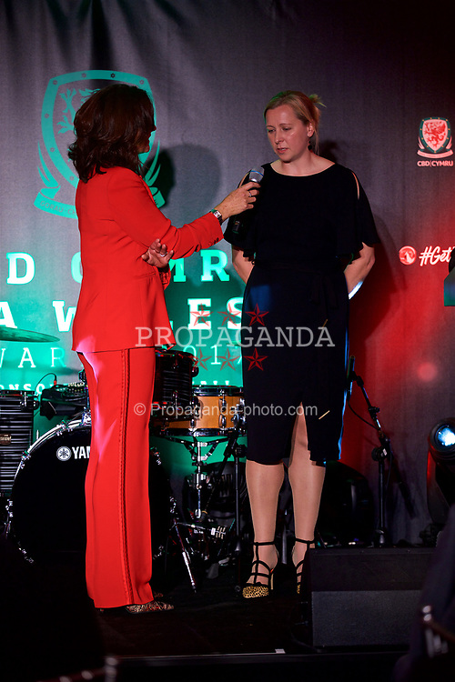 CARDIFF, WALES - Monday, October 2, 2017: Wales women teams manager Jayne Ludlow during the FAW Awards Dinner at the Hensol Castle. (Pic by David Rawcliffe/Propaganda)