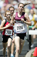 Hamilton, Ontario ---06/06/08--- Britney Allard of Theriault in Timmins competes in the steeplechase at the 2008 OFSAA Track and Field meet in Hamilton, Ontario..GEOFF ROBINS
