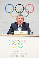 MONACO - DECEMBER 08:  IOC President Thomas Bach hold a press conference during the 127th IOC Session at the Grimaldi Forum on December 8, 2014 in Monaco, Monaco.  (Photo by Tony Barson/Getty Images)