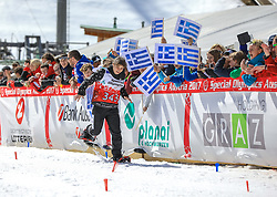 17.03.2017, Ramsau am Dachstein, AUT, Special Olympics 2017, Wintergames, Schneeschuhlauf, Divisioning 100 m, im Bild Nellya Nafigova (UZB) // during the Snowshoeing Divisioning 100 m at the Special Olympics World Winter Games Austria 2017 in Ramsau am Dachstein, Austria on 2017/03/17. EXPA Pictures © 2017, PhotoCredit: EXPA / Martin Huber