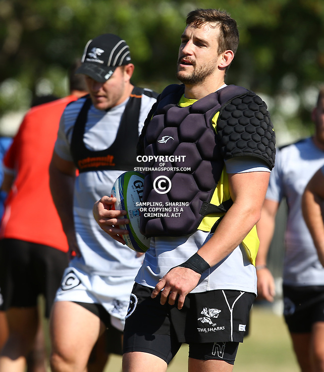 DURBAN, SOUTH AFRICA, 18,JULY, 2016 - Keegan Daniel during The Cell C Sharks training session at Growthpoint Kings Park in Durban, South Africa. (Photo by Steve Haag)<br /> <br /> images for social media must have consent from Steve Haag