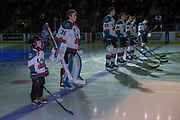 KELOWNA, CANADA - FEBRUARY 24:  Pepsi Player of the Game in the line up at the Kelowna Rockets game on February 24, 2018 at Prospera Place in Kelowna, British Columbia, Canada.  (Photo By Cindy Rogers/Nyasa Photography,  *** Local Caption ***