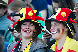 Belgium supporters. England v Netherlands  - Unibet EuroHockey Championships, Lee Valley Hockey & Tennis Centre, London, UK on 23 August 2015. Photo: Simon Parker