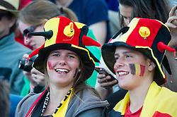 Belgium supporters. England v Netherlands  - Unibet EuroHockey Championships, Lee Valley Hockey & Tennis Centre, London, UK on 23 August 2015. Photo: Simon Parker