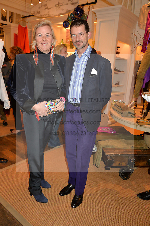 COUNT & COUNTESS MANFREDIE DELLA GHERARDESCA at a party to celebrate the publication of India Hicks: Island Style hosted by Princess Marie-Chantal of Greece, Saffron Aldridge and Amanda Brooks has held at Ralph Lauren, 105-109 Fulham Road, London on 28th April 2015,