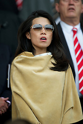LIVERPOOL, ENGLAND - Saturday, April 23, 2011: Wife of Liverpool's Commercial Director Ian Ayre during the Premiership match against Birmingham City at Anfield. (Photo by David Rawcliffe/Propaganda)
