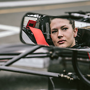 Marissa Hayes, driver in the F3 Race Series. Sonoma, CA | Simraceway