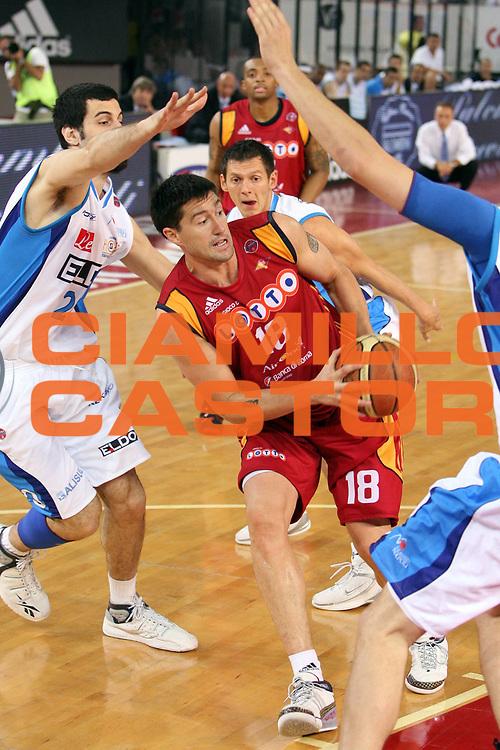 DESCRIZIONE : Roma Lega A1 2007-08 Lottomatica Virtus Roma Eldo Napoli<br /> GIOCATORE : Roberto Gabini<br /> SQUADRA : Lottomatica Virtus Roma<br /> EVENTO : Campionato Lega A1 2007-2008 <br /> GARA : Lottomatica Virtus Roma Eldo Napoli<br /> DATA : 11/10/2007 <br /> CATEGORIA : Penetrazione<br /> SPORT : Pallacanestro <br /> AUTORE : Agenzia Ciamillo-Castoria/E.Castoria<br /> Galleria : Lega Basket A1 2007-2008<br /> Fotonotizia : Roma Campionato Italiano Lega A1 2007-2008 Lottomatica Virtus Roma Eldo Napoli<br /> Predefinita :