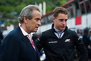 May 20-24, 2015: Monaco GP2: Stoffel Vandoorne, ART Grand Prix talks with Jackie Ixx