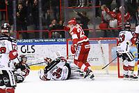 2020-03-07   Ljungby, Sverige: Troja gör 4-4 under matchen i Hockeyettan mellan IF Troja/Ljungby och Bodens HF i Ljungby Arena ( Foto av: Fredrik Sten   Swe Press Photo )<br /> <br /> Nyckelord: Ljungby, Ishockey, Hockeyettan, Ljungby Arena, IF Troja/Ljungby, Bodens HF, fstb200307, playoff, kval