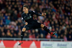 SUNDERLAND, ENGLAND - Monday, January 2, 2017: Liverpool's Roberto Firmino in action against Sunderland during the FA Premier League match at the Stadium of Light. (Pic by David Rawcliffe/Propaganda)
