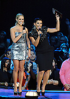 New York, NY-September 13, 2009: Kristin Cavallari and Nelly Furtado perform during the MTV Video Music Awards at Radio City Music Hall on September 13, 2009 in New York City (Photo by Jeff Snyder/PictureGroup)