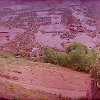 360 degree view of Canyon de Chelly in the rain