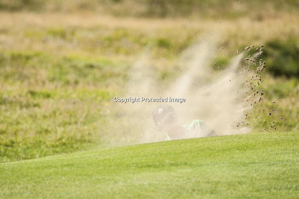 15-09-12 Ladies European Tour 2012, Ricoh Women's British Open, The Royal Liverpool Club, Hoylake, Wirral, Town, UK. 13-16 Sep. Nikki  Garrett of Australia bunkershot during the second round.
