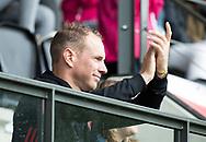AMSTELVEEN - Teun Rohof geblesseerd aan de kant    tijdens Amsterdam-Tilburg, competitie Hoofdklasse hockey heren   (2017-2018) .  COPYRIGHT KOEN SUYK