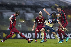 April 9, 2018 - Mexico City, MEXICO CITY, Mexico - Henry Martin of  Club America during 2018 CONCACAF Champions League Semifinals, Leg 2 match between Club America and Toronto FC at Azteca Stadium in Mexico City, Mexico on 10 April, 2018. (Credit Image: © Ernesto Perez/NurPhoto via ZUMA Press)