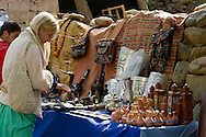 Souvenirs for sale in the resort town of Setti Fatma in the Ourika Vally, Morocco