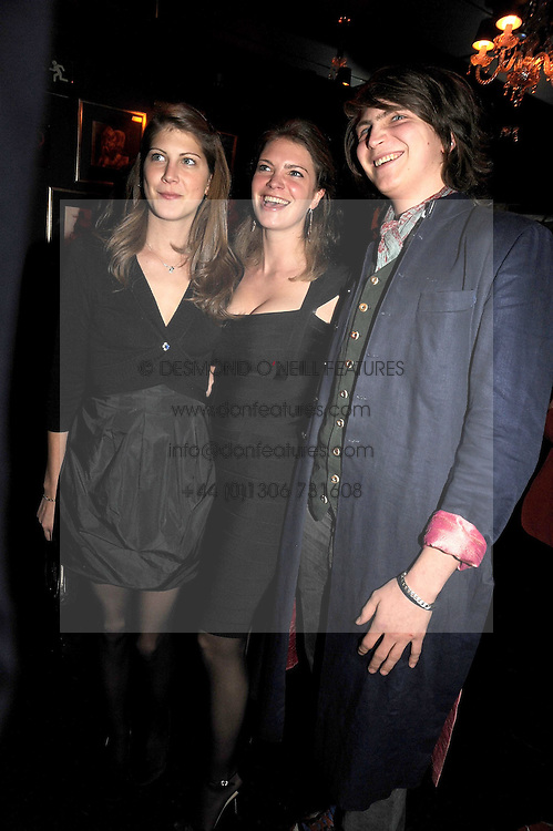 Left to right, PRINCESS FLORENCE VON PREUSSEN, PRINCESS BEATRICE VON PREUSSEN and PRINCE FREDERICK VON PREUSSEN at the Tatler Magazine Little Black Book party at Tramp, 40 Jermyn Street, London SW1 on 5th November 2008.