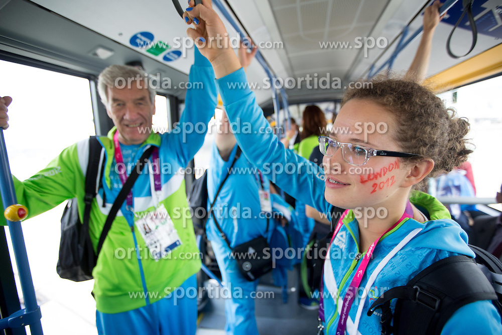 Adi Urnaut and Lena Gabrscek of Team Slovenia at Airport in Frankfurt during way back to Airport Joze Pucnik after the London 2012 Paralympic Games on September 10, 2012, in Frankfurt, Germany. (Photo by Vid Ponikvar / Sportida.com)