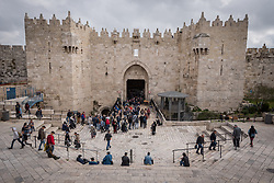 29 February 2020, Jerusalem: The Damascus Gate, one of the entry points into the Old City in Jerusalem.
