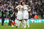 English players celebrating after final whistle during the UEFA Nations League match between England and Croatia at Wembley Stadium, London, England on 18 November 2018.