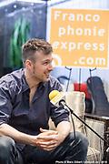 Allan Hurd Portrait en direct lors de l'émission radiophonique Francophonie Express  à  Le Mount Stephen / Montreal / Canada / 2019-04-08, Photo © Marc Gibert / adecom.ca