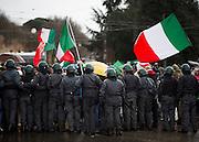"""Manifestazione del  """"Coordinamento 9 dicembre"""".  Rome, 10 february 2014. Christian Mantuano / OneShot"""