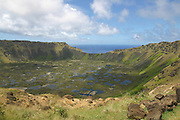 Rano Kau, volcanic crater,Easter Island (Rapa Nui), Chile<br />