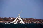 Gleam, and Northern Light sailing in the Museum of Yachting Classic Yacht Regatta.