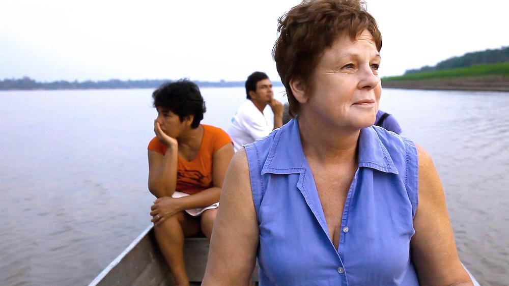 Gina Low of APECA, Amazon River, Peru