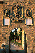 SPAIN, LA MANCHA, TOLEDO gateway on the San Martin Bridge