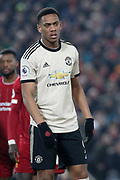 Manchester United forward Anthony Martial (9) during the Premier League match between Liverpool and Manchester United at Anfield, Liverpool, England on 19 January 2020.