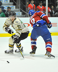 Action from Game 5 of the 2012 MasterCard Memorial Cup between the Edmonton Oil Kings and the London Knights in Shawinigan, Quebec on Tuesday May 22, 2012. Photo by Terry Wilson / CHL Images.