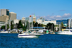 California, Oakland: A view of downtown Oakland from across the Estuary in Alameda..Photo #: 34-casanfcadayt103.Photo © Lee Foster 2008