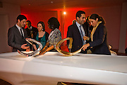 AMIR SHARIAT; IDA CHAMPION. Zaha Hadid and Triflow Concepts host the launch of a pioneering new kitchen and bathroom lifestyle. 46 Portland Place. London. 28 January 2009 *** Local Caption *** -DO NOT ARCHIVE-© Copyright Photograph by Dafydd Jones. 248 Clapham Rd. London SW9 0PZ. Tel 0207 820 0771. www.dafjones.com.<br /> AMIR SHARIAT; IDA CHAMPION. Zaha Hadid and Triflow Concepts host the launch of a pioneering new kitchen and bathroom lifestyle. 46 Portland Place. London. 28 January 2009