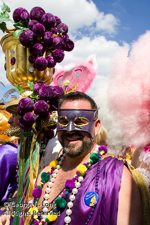 Mardi Gras in the French Quarter and Faubourg Marigny of New Orleans