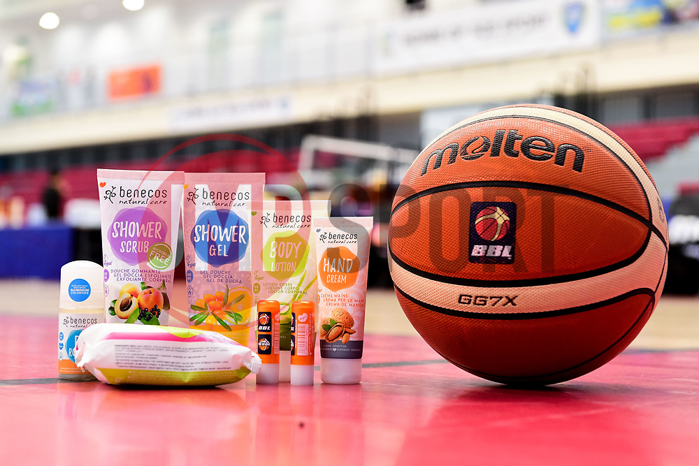 Benecos Products courtside - Photo mandatory by-line: Ryan Hiscott/JMP - 15/11/2019 - BASKETBALL - SGS Wise Arena - Bristol, England - Bristol Flyers v London City Royals - British Basketball League Cup