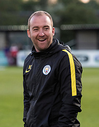 Manchester City Women Manager Nick Cushing smiles after defeating Bristol City Women 0-3 - Mandatory by-line: Paul Knight/JMP - 09/05/2017 - FOOTBALL - Stoke Gifford Stadium - Bristol, England - Bristol City Women v Manchester City Women - FA Women's Super League Spring Series