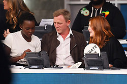 """Celebrities at the """"Hand to hand"""" telethon in Times square, New York City. 12 Sep 2017 Pictured: Lupita Nyong'o, Daniel Craig, Julianne Moore. Photo credit: MEGA TheMegaAgency.com +1 888 505 6342"""