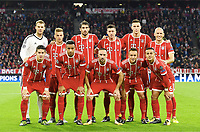 Mannschaft FC Bayern Muenchen<br /> hinten v.l. Torwart Manuel Neuer, Joshua Kimmich, Javier ''Javi'' Martinez, Robert Lewandowski, Niklas Suele, Arjen Robben<br /> vorn v.l. James Rodriguez, Corentin Tolisso, Franck Ribery, Rafinha, Thiago Alcantara<br /> Muenchen, 12.09.2017, Fussball, Champions League, Gruppenphase, FC Bayern München - RSC Anderlecht<br /> Norway only<br /> lagbilde