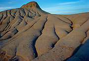 Erosion channels emminating from teh top of sandstone mounds<br /> Dinosaur Provincial Park<br /> Alberta<br /> Canada