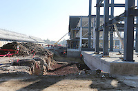 Pitlane construction.<br /> Autodromo Hermanos Rodriguez Circuit Visit, Mexico City, Mexico. Thursday 22nd January 2015.
