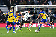 Derby County forward Tom Lawrence (10) breaks clear during the The FA Cup 3rd round match between Derby County and Southampton at the Pride Park, Derby, England on 5 January 2019.