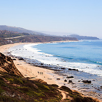 Photo of Crystal Cove State Park beach in Orange County California. Crystal Cove is located along the Pacific Ocean in Laguna Beach and Newport Beach in Southern California.