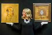 Derek Hill (1916-2000) , Portrait of Noël Coward,est £4000- 6000 (L) and Mati Klarwein (1932-2002), Portrait of Sir Noël Coward, est £800-1200. The private collection of Sir Noël Coward, which will be offered as part of the Modern British and Irish Art sale on 19 March 2015 at South Kensington. This collection features a group of paintings by Coward himself, which include portraits and scenes of Jamaica alongside paintings he acquired as gifts from friends such as the actress Elizabeth Taylor, the actor David Niven, and the composer, actor and entertainer Ivor Novello. It comprises works by revered British artists such as Christopher Wood, John Nash, Edward Seago and Derek Hill. Estimates range from £300 up to £100,000.