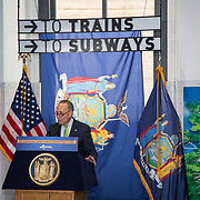 New York Senator Chuck Schumer speaks at the opening of the Moynihan Train Hall in Penn Station.