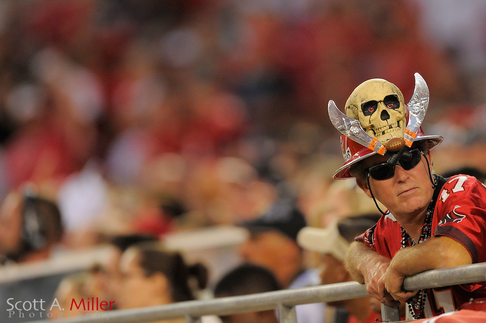 Tampa Bay Buccaneers fan during the Bucs game against the New Orleans Saints at Raymond James Stadium on Oct. 16, 2011 in Tampa, Fla...©2011 Scott A. Miller