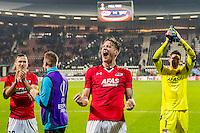 ALKMAAR - 08-12-2016, AZ - FC Zenit, AFAS Stadion, 3-2, AZ speler Stijn Wuytens, AZ speler Wout Weghorst, AZ keeper Sergio Rochet